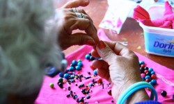 Making jewelry to help support their needs